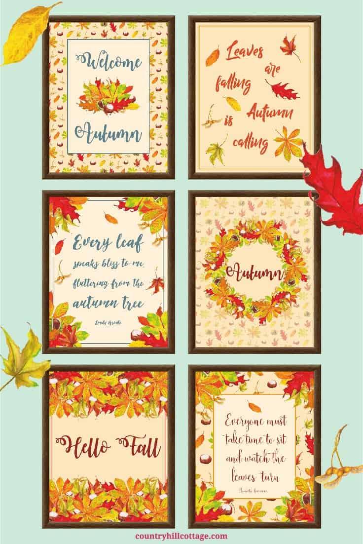 6 Free Autumn Printables