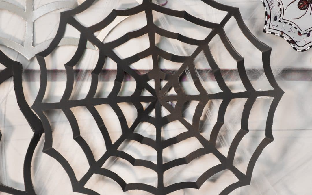 Paper Spider Web | DIY Halloween Decor