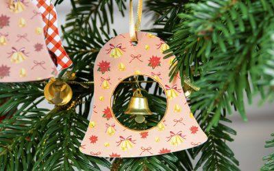 DIY Paper Christmas Ornaments | Printable Bell Ornaments