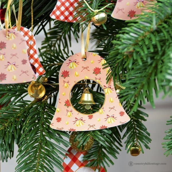 DIY Paper Christmas Ornaments | Printable Bell Ornaments