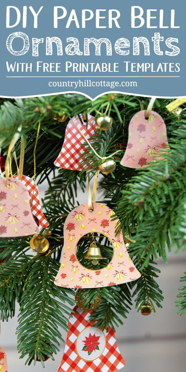 Printable Christmas Ornaments.Diy Paper Christmas Ornaments Printable Bell Ornaments