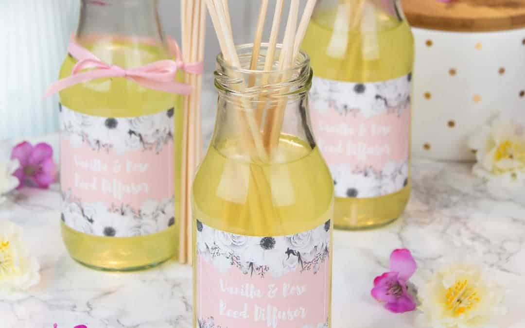Vanilla Rose Reed Diffusers – DIY Reed Diffuser with Essential Oils