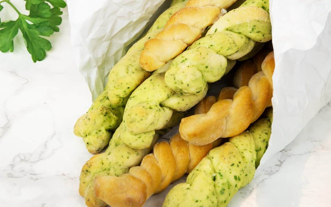 Parsley Braided Bread Sticks