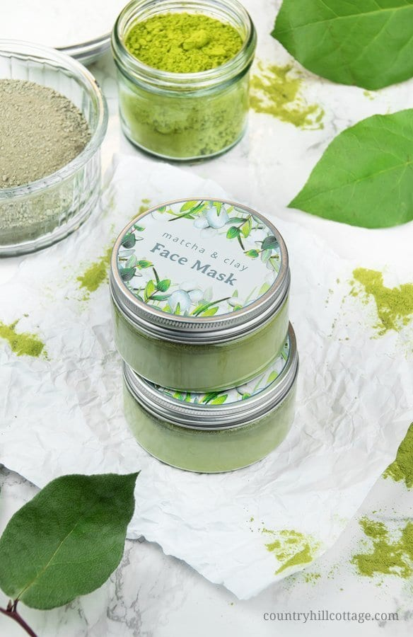 Homemade green tea mask