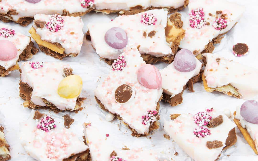 Easter Chocolate Cookie Bark