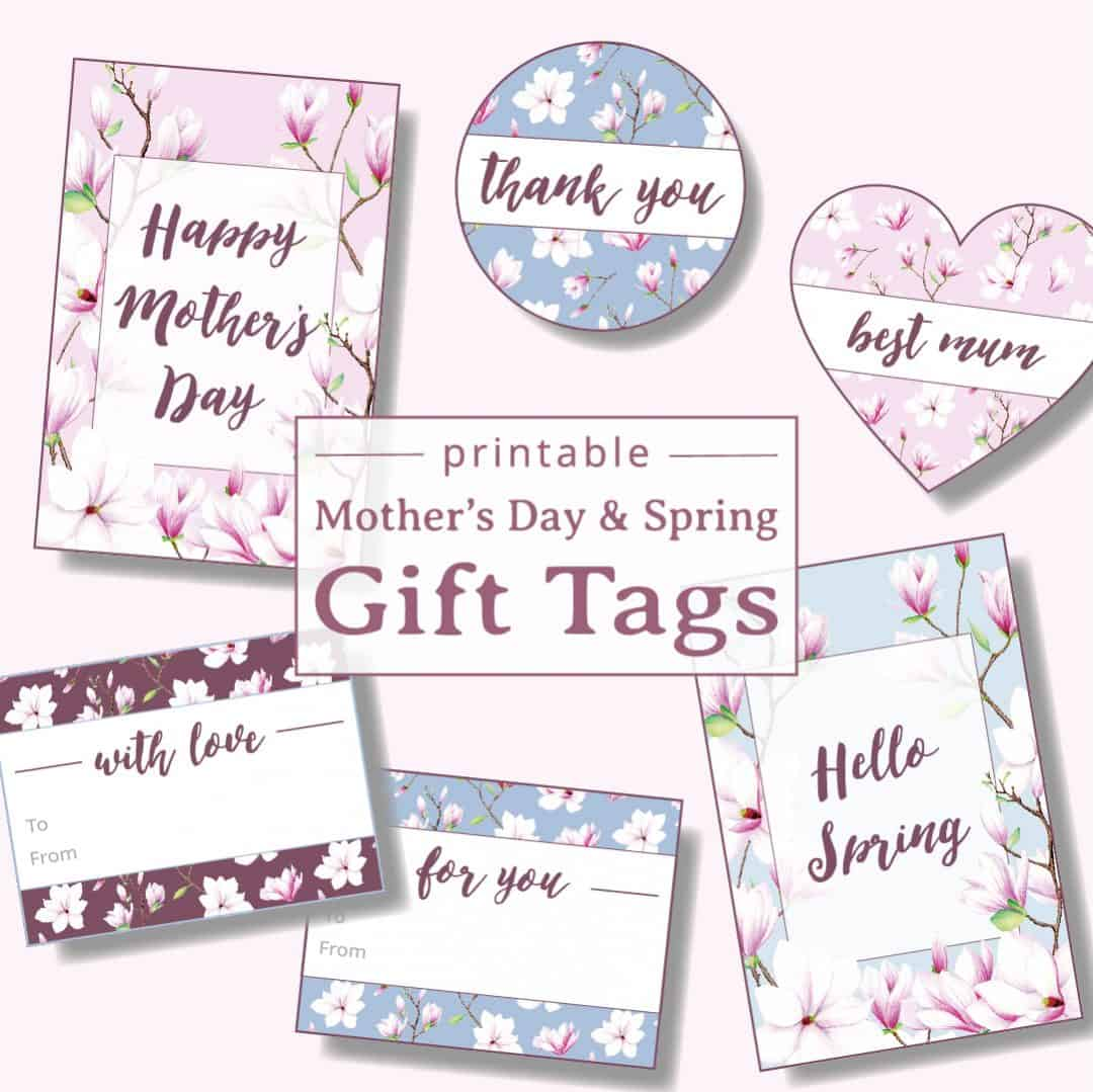 graphic about Mother's Day Tags Printable known as Printable Magnolia Present Tags for Moms Working day Spring