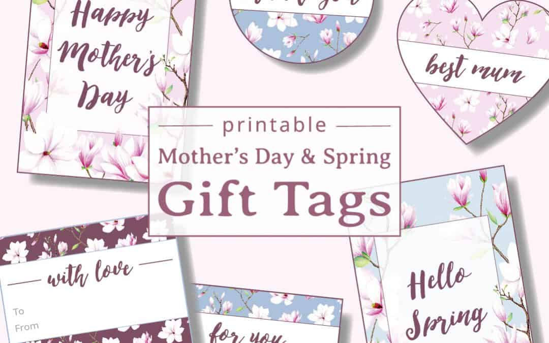 Printable Magnolia Gift Tags for Mother's Day & Spring
