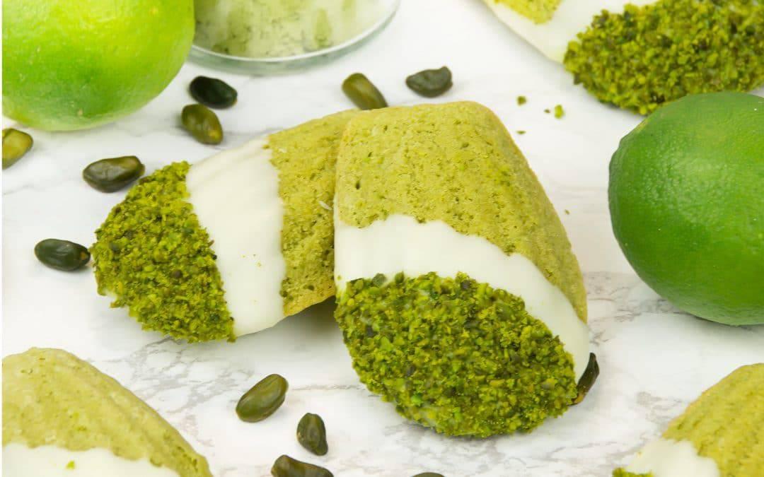 Pistachio Lime Matcha Madeleines