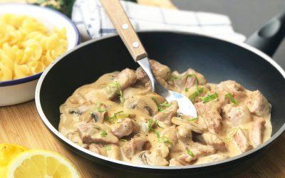 Chicken Stroganoff Recipe with Creamy Sauce