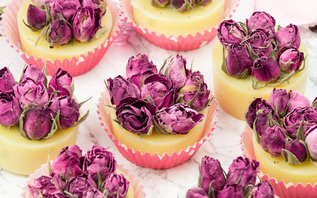 DIY Rose Bath Truffles with Essential Oil