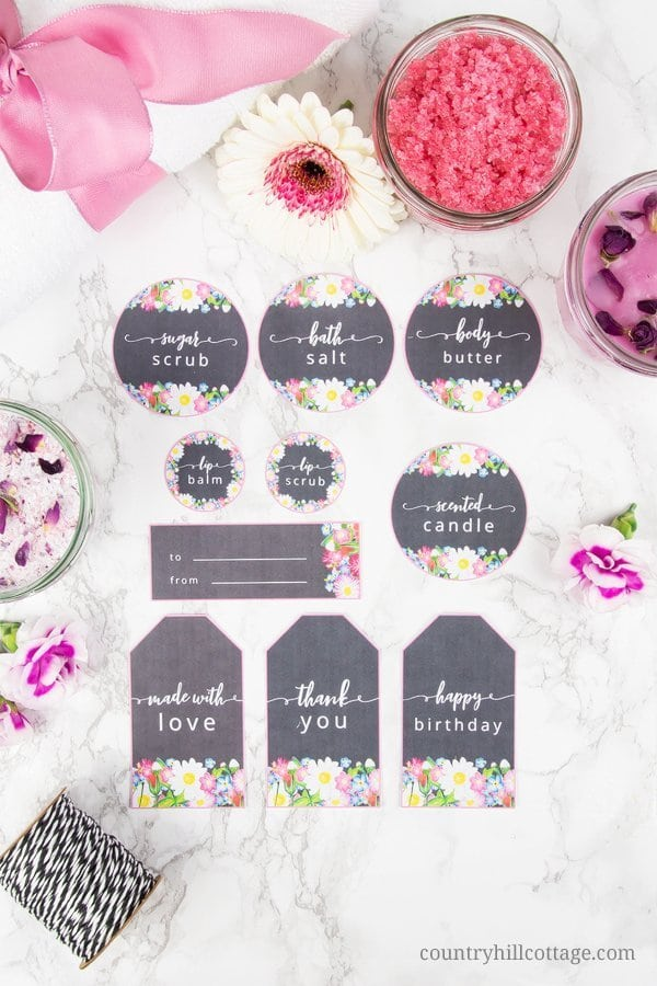 Diy Spa Kit With Free Printable Labels Easy Homemade Gift Idea