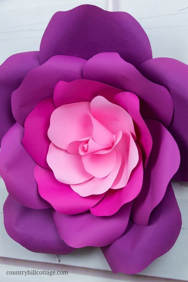 photo relating to Paper Rose Template Printable identify Study towards create Huge Paper Roses within just 5 Simple Ways and acquire a