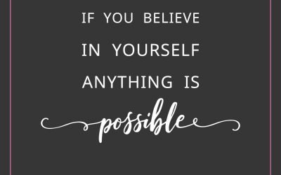 If you believe in yourself anything is possible | Free Printable Quote