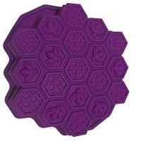 Lyshi Bee Honeycomb Cake Mold Mould Soap Mold Silicone Flexible Chocolate Mold (Purple)
