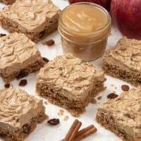 Vegan Applesauce Cake with Cinnamon Maple Frosting - Gluten-Free Paleo