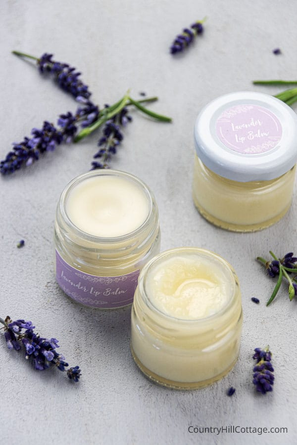 Natural Lavender Lip Balm with coconut oil and shea butter