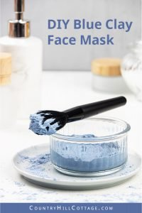 How to make a clay face mask with French blue clay. Learn 6 DIY blue clay mask recipes for glowing skin! These hydrating blue face mask ideas are gentle and a wonderful at-home skin care treatment for dry skin. A homemade hydrating face mask with blue clay is easy to make. Only 5 minutes prep is needed to make a DIY face mask, and this simple all-natural beauty recipe is cleansing, hydrating, exfoliating and rejuvenating. #blueclay #claymask #blueclaymask #clay | countryhillcottage.com