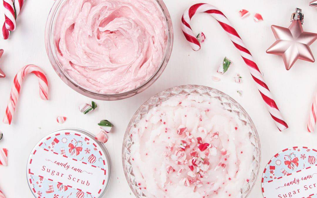 DIY Candy Cane Sugar Scrub and Peppermint Body Butter