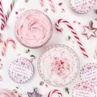 Whipped Candy Cane Sugar Scrub and Peppermint Body Butter