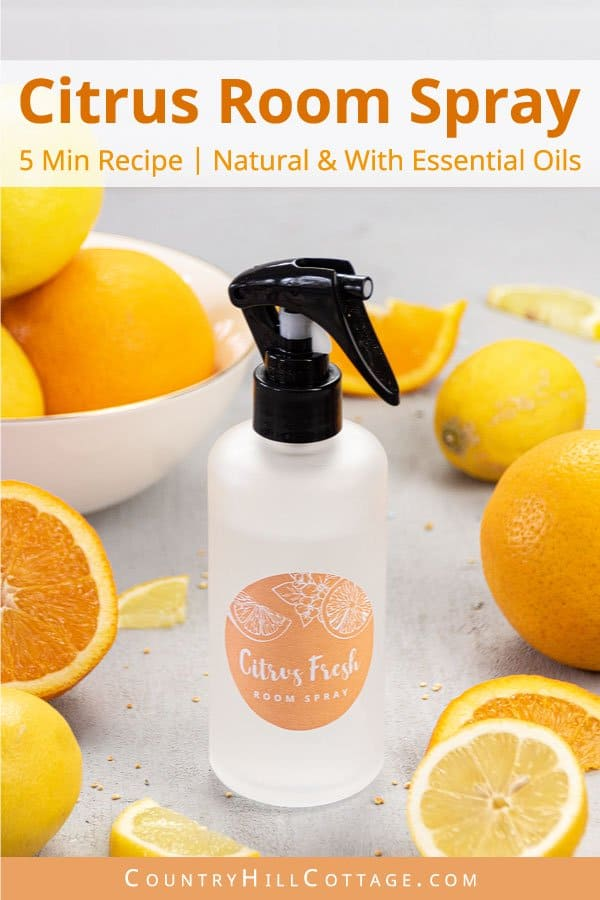 DIY lemon orange room spray