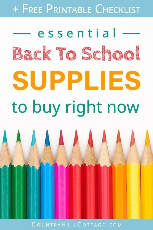 Essential Back To School Supplies List & Free Printable