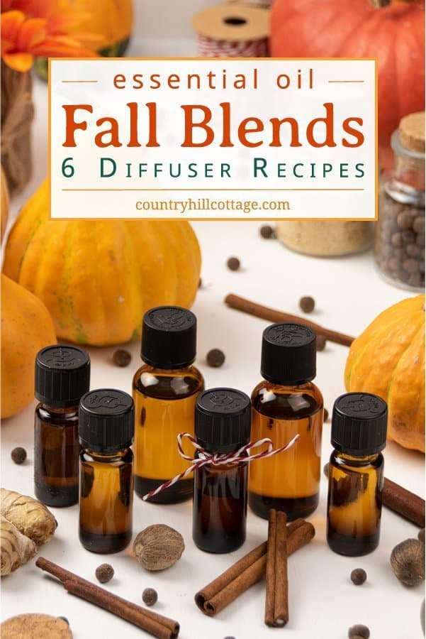 Learn how to make your home smell like autumn with 6 seasonal essential oil blends for fall! Autumn essential oils provide cozy fall fragrances & calming natural scents to enjoy all season long. Fall essential oil diffuser blend recipes are easy and will help you relax. The DIY essential oil blends are great air freshener and good for aromatherapy, home fragrance, relaxation, focus, energy & purification. #diffuserblends #essentialoils #fall #autumn #aromatherapy #diy | countryhillcottage.com