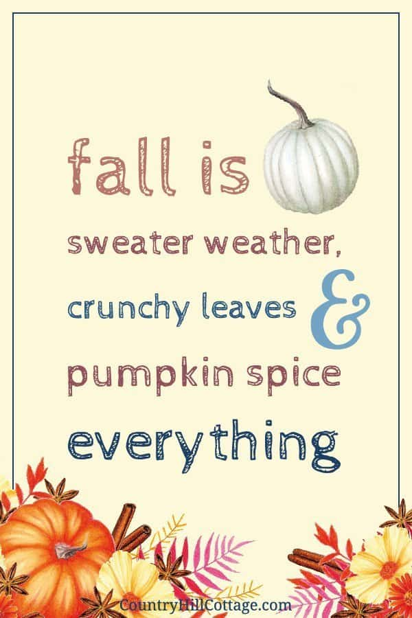 Fall is sweater weather, crunchy leaves and pumpkin spice everything. »»» Download free rustic fall printables inspired by autumn, vintage watercolor drawings and farmhouse style. The free printable quotes are great to frame and can be used as cute décor signs and wall art ideas for home, kitchen, bedrooms, bathrooms, for work, gallery walls, for planners or the classroom. 4x6 5x7 8x10 #quote #printablequote #printable #freebie #fall #falldecor #fallprintable #wallart | countryhillcottage.com