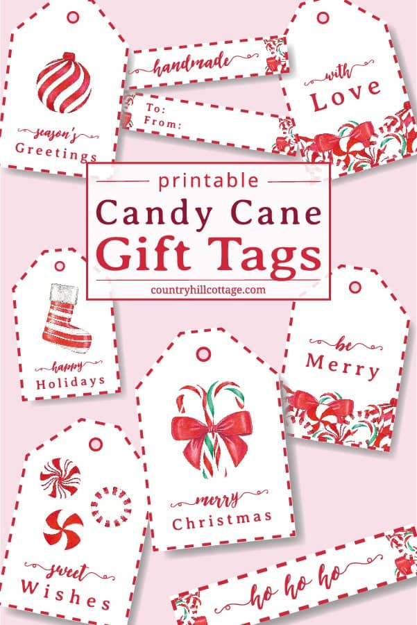 Candy Cane Gift Tags DIY Holiday Gift Tags
