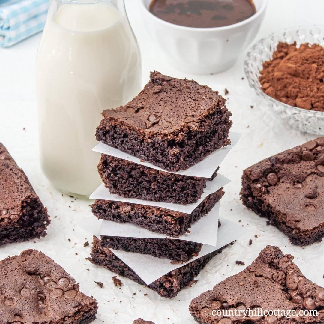 Fudgy Almond Flour Brownies Gluten Free Dairy Free Paleo