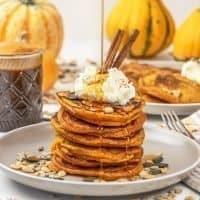 Easy Healthy Pumpkin Pancakes Recipe Vegan & Gluten Free
