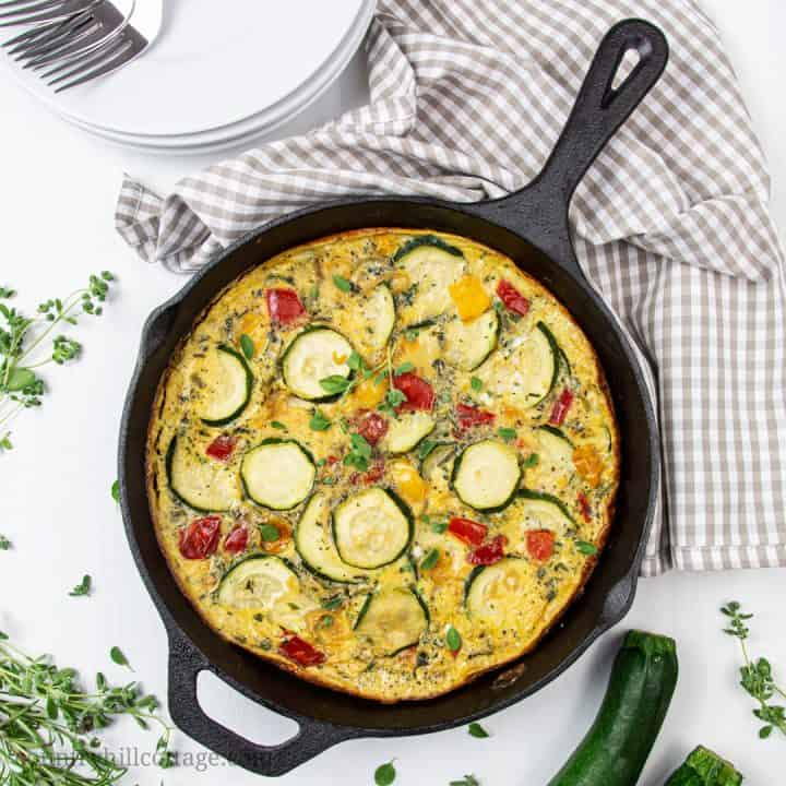 Healthy Low Carb Zucchini Frittata