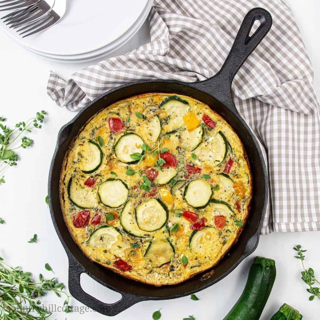Healthy Zucchini Frittata Low Carb Gf Df Paleo Keto Whole 30