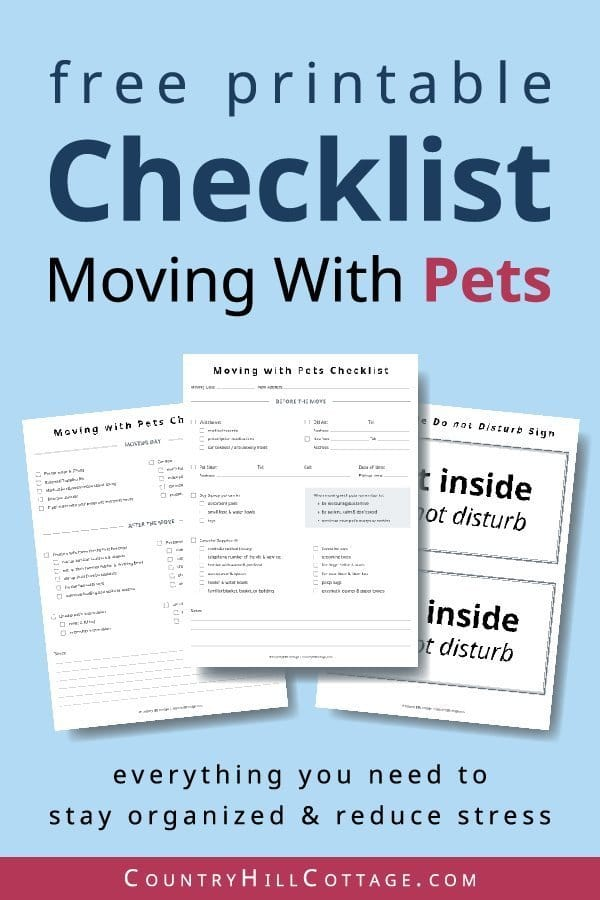 photo regarding Stay Organized With a Printable Moving Checklist identified as What toward do with animals upon relocating working day? Rules totally free printable