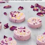 All natural bath bombs with rose petals