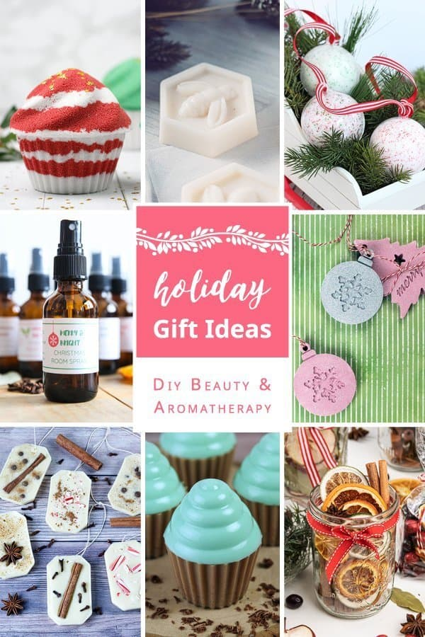 Get 8 amazing natural Holiday gift ideas! The beauty and aromatherapy recipes are wonderful homemade Christmas gifts! The easy handmade presents include bath bombs, DIY soap recipes, essential oil ornaments, wax air fresheners, DIY holiday room sprays and stovetop potpourri gift ideas. #holidays #Christmas #gift #gifts #DIYgifts #homemadegifts #skincare #natural #essentialoils #beautyrecipe #bathbombs #soap #meltandpour #essentialoils | countryhillcottage.com