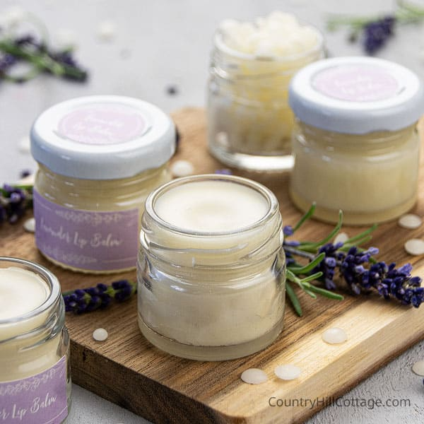 Homemade Lavender Lip Balm Recipe {with and without beeswax}