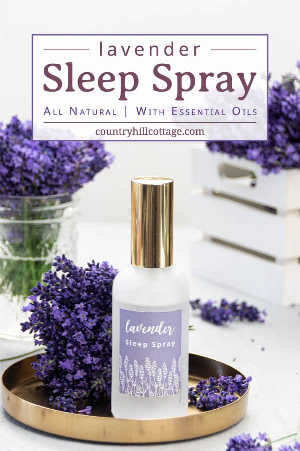How to make natural lavender sleep spray with essential oils