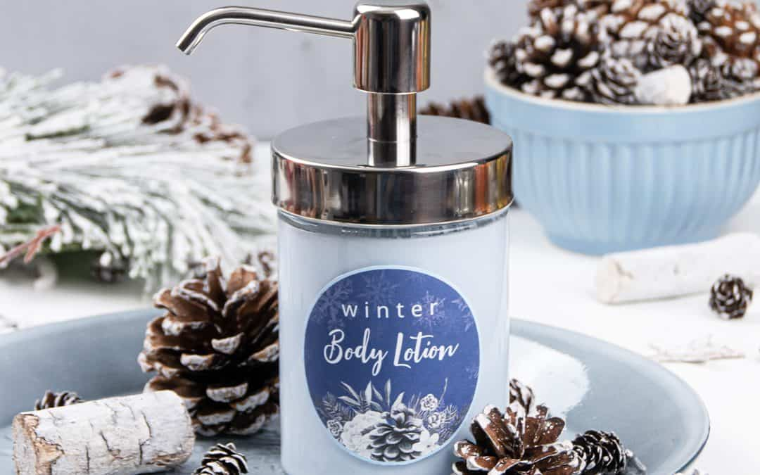 The Best DIY Body Lotion for Dry Skin in Winter with Cornflowers