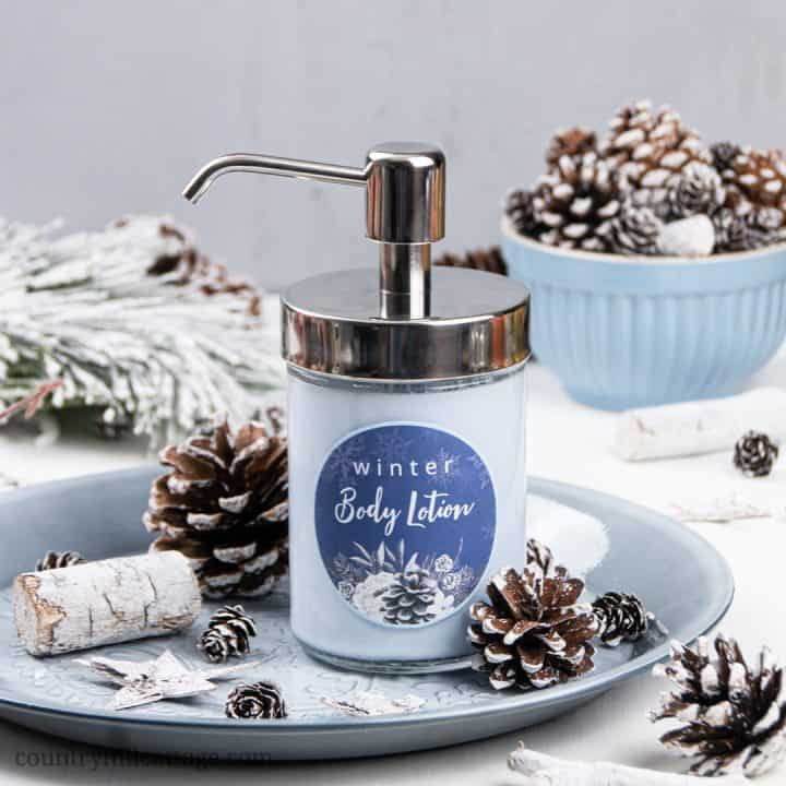 The Best DIY Body Lotion for Dry Skin in Winter with Cornflowers and Essential Oils