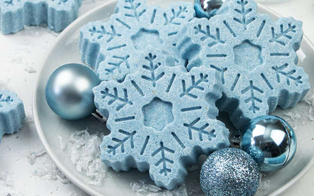 Moisturizing Snowflake Bath Bombs for Dry Skin – Winter Bath Bombs