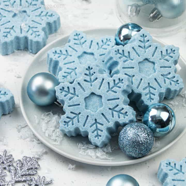 Moisturizing Snowflake Bath Bombs for Dry Skin