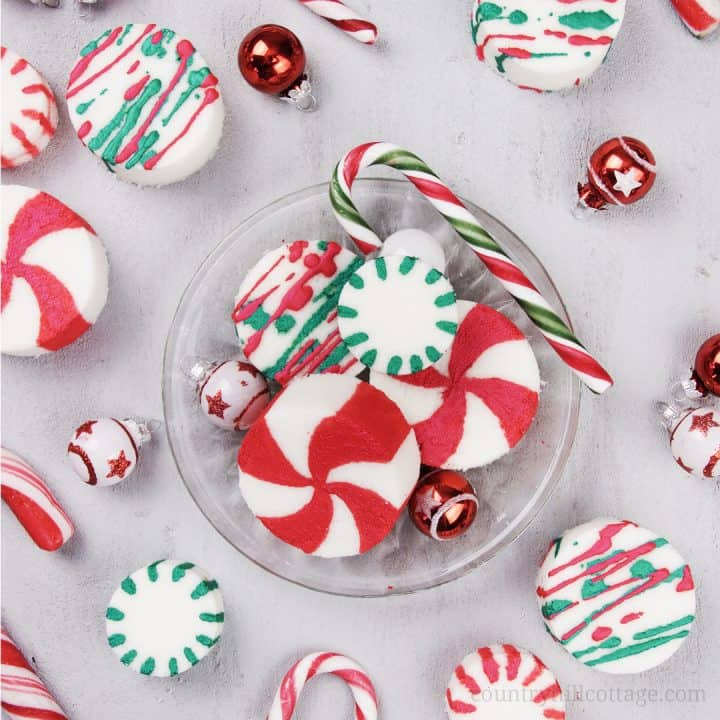 DIY Peppermint Bath Bombs – Christmas Candy Cane Bath Bombs with Essential Oils