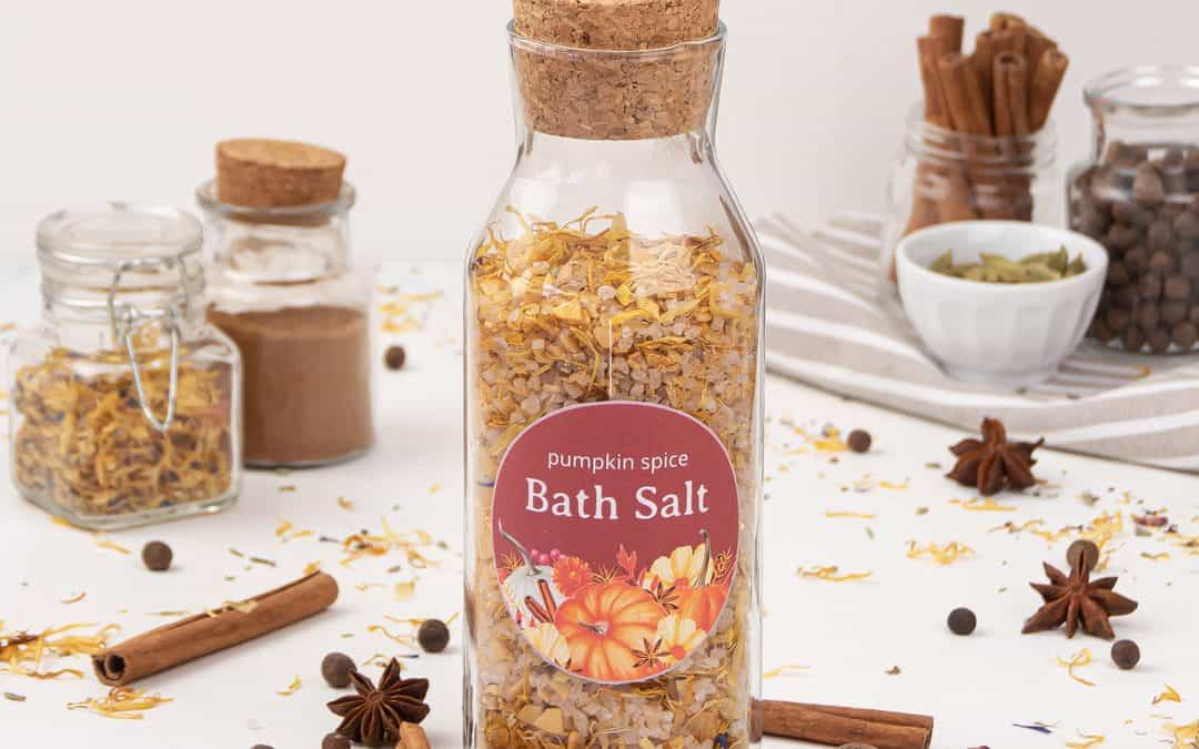 Pumpkin Spice Bath Salt Recipe – Easy DIY Bath Soak