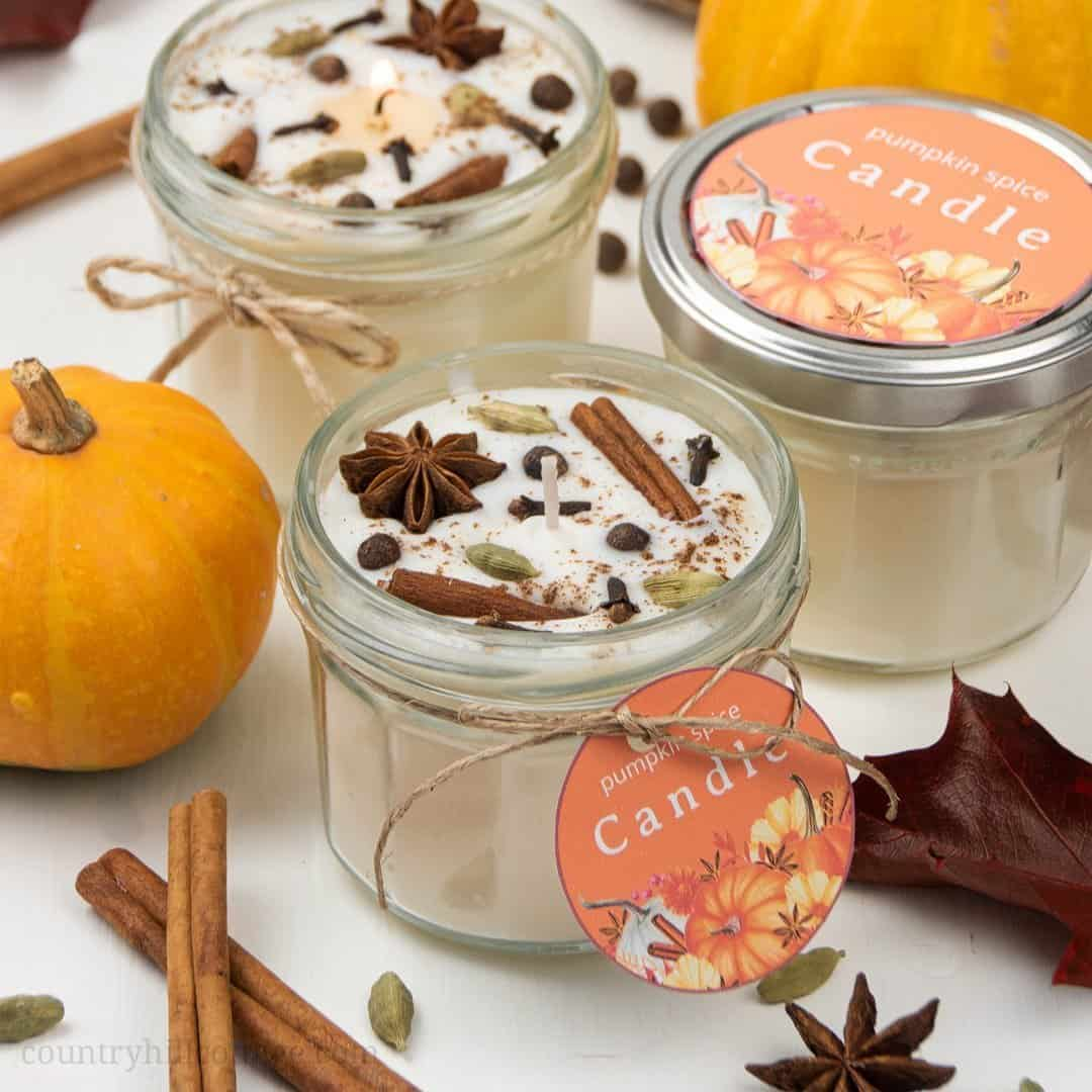 Diy Pumpkin Spice Candles Fall Candles Recipe With Essentials Oils