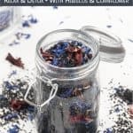 DIY Hawaiian black lava bath salts are a treat for all senses and relieve stress and tension! See how to make aromatherapy bath salt that contains minerals and antioxidants to cleanse and detox the skin. The homemade bath soak recipe is made of activated charcoal infused sea salt, dried flowers and essential oils. The easy tutorial is great for sore muscles, detox and relaxation. Includes free printable gift labels for packaging. #bathsalt #bathsalts #essentialoils | countryhillcottage.com