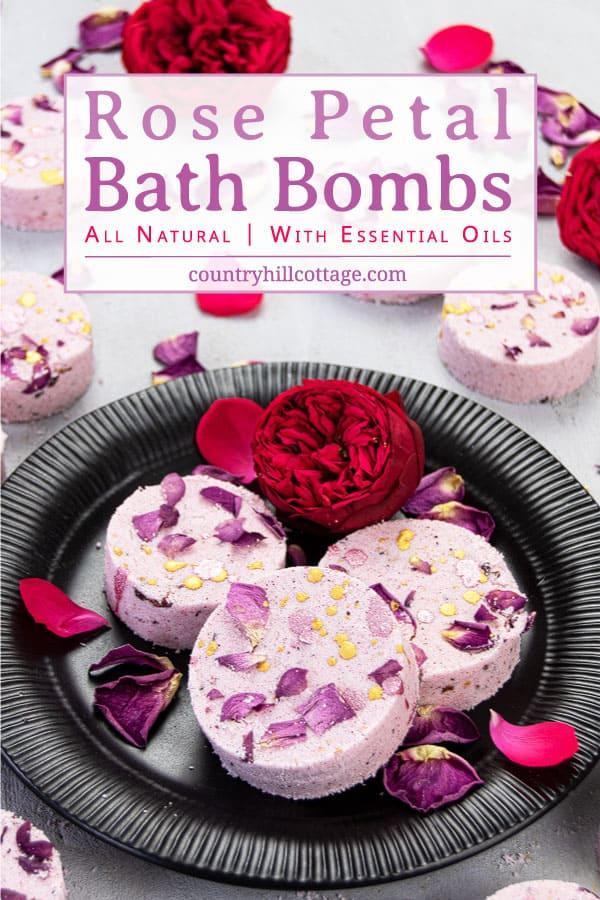 Rose Essential Oil Bath Bombs