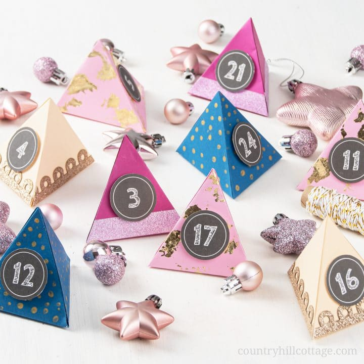 Easy DIY Paper Advent Calendar with Free Printable Template