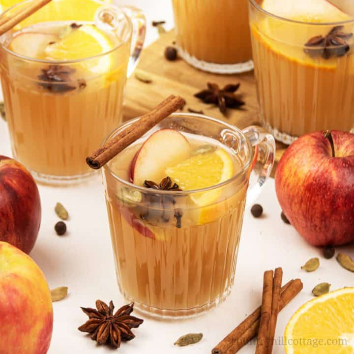Mulled Apple Cider - Easy Homemade Hot Spiced Apple Cider Recipe
