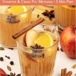 Warm up with the best homemade apple cider! Learn how to make mulled apple cider on the stovetop and in the slow cooker/crockpot. This healthy easy apple cider recipe includes useful tips for choosing mulling spices and for making alcoholic spiked mulled apple cider. Quick sugar free DIY spiced cider is the quintessential vegan fall drink and a great autumn beverage recipe for a crowd and Christmas entertaining. #cider #applecider #mulledcider #falldrink #appledrink | countryhillcottage.com