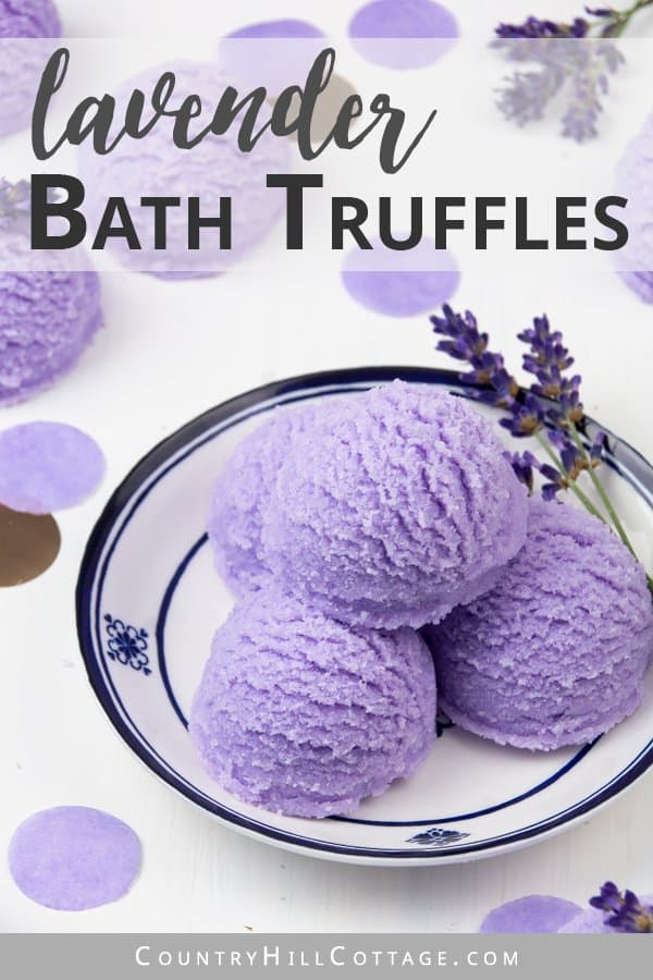 DIY Foaming Lavender Bubble Scoops with Essential Oil